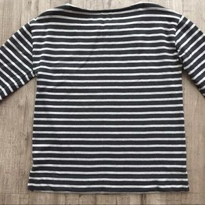 Everlane Tops - Everlane Striped Boatneck Heavyweight Boxy Tee